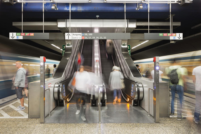 Otis Selected to Provide 92 Escalators for Munich Metro Modernization