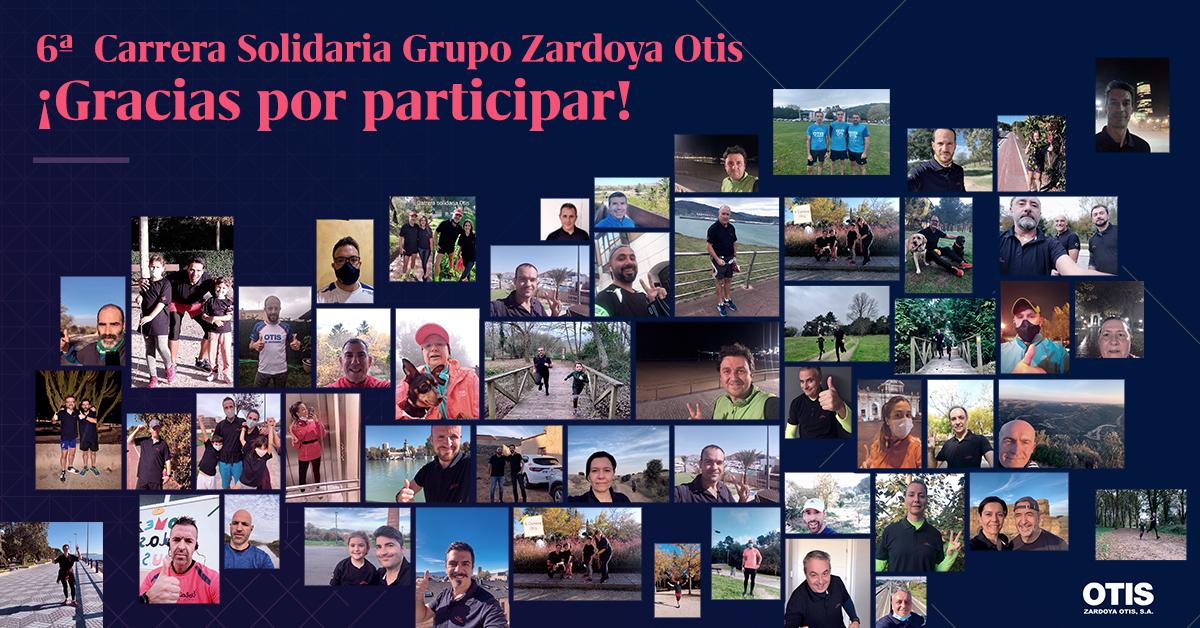 Finaliza con éxito la 6ª Carrera Solidaria inclusiva Grupo Zardoya Otis