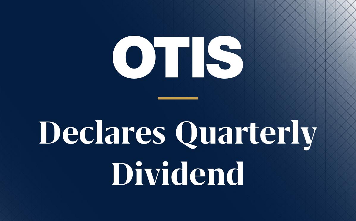 Otis Logo Quarterly Dividend